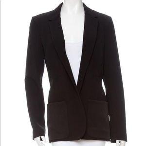 The Row black drawstring blazer satin pockets L/10